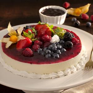 Cheesecake com amora